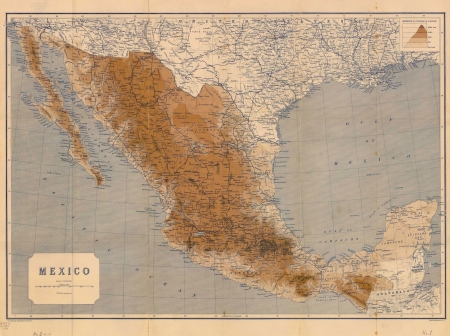gulf of mexico:  Mexico old map