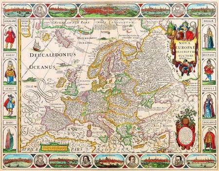 ヨーロッパ古地図 1658