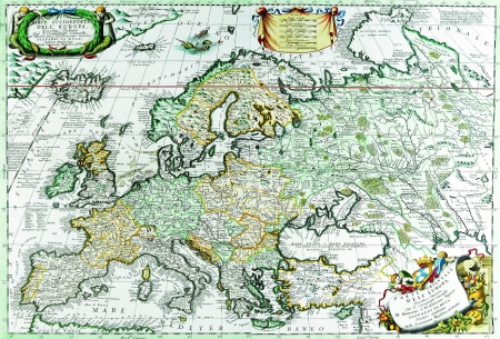 tourism in russia: Europe old map 1690
