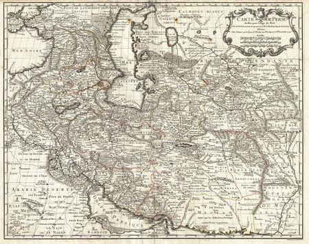 Asia Minor old map. Persia,Arabia,Turkey,Iran,Iraq