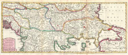 Balkans old map Stock Photo - 18369575