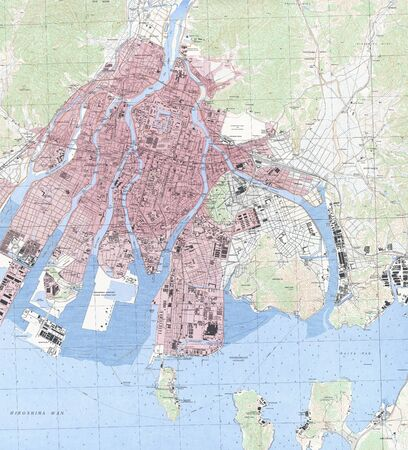 Hiroshima militray map 1942. Stock Photo - 18401987