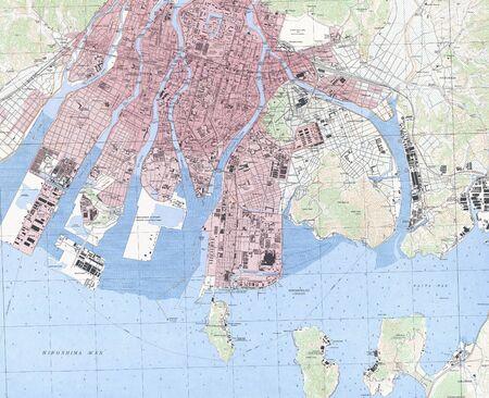 Hiroshima militray map 1942. Stock Photo - 18401986