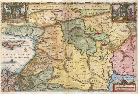 Holy Land old map Stock Photo - 18401978