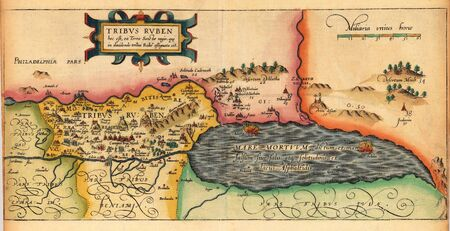 Holy Land old map Stock Photo - 18401970