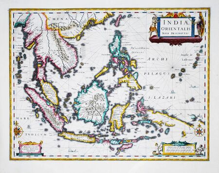 South East Asia vintage map Stock Photo - 18432250