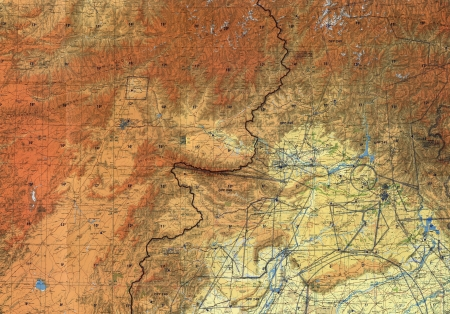 Tactical pilotage chart Afghanistan. Fragment