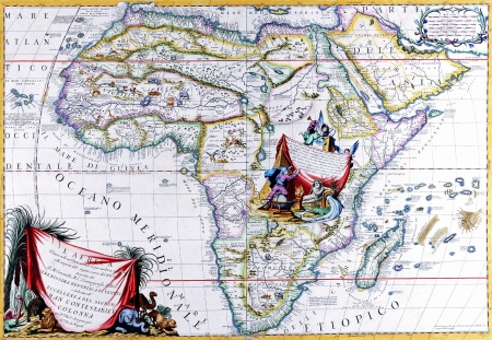 Antique Maps of the WorldMap of AfricaVincenzo Coronellic 1692 Editorial