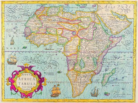 navigational: Antique Maps of the WorldMap of AfricaJodocus Hondiusc 1610