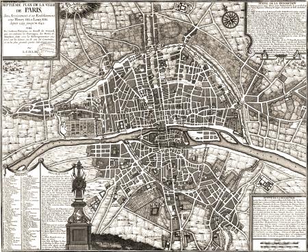 paris vintage: Par?s vendimia mapa