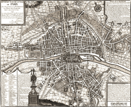 vintage paris: Paris vintage map