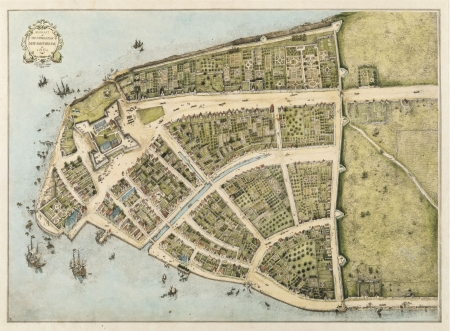 New Amsterdam (New York) vintage map