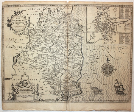 North Ireland vintage map