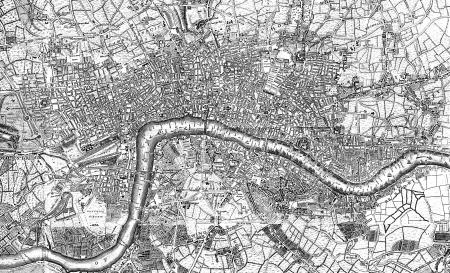 england map: London vintage map