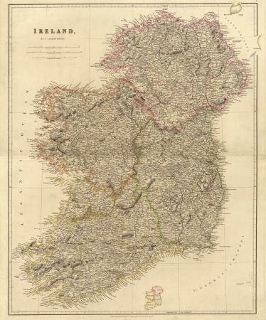 ireland: Ireland old map