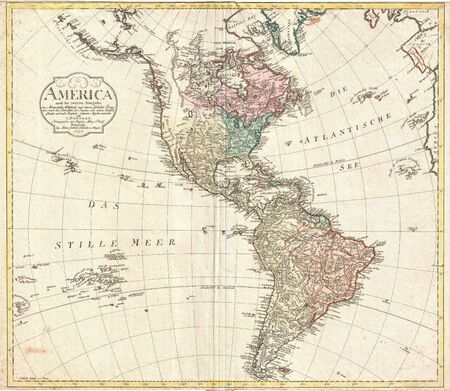 topographical: South America vintage map