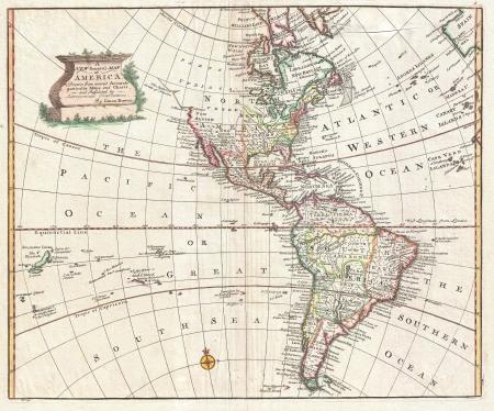 Nord e Sud America Vintage mappa