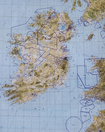 pilotage: Ireland tactical pilotage chart . Fragment  Editorial