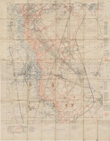 canadian military: WWI vintage military map