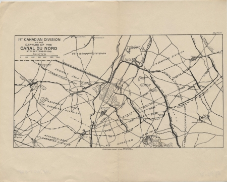 WWI vintage military map