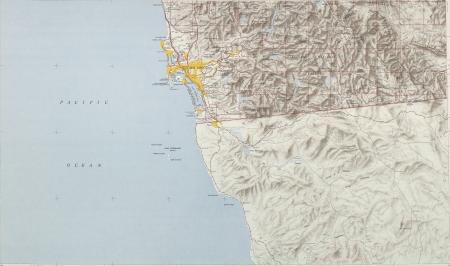 San-Diego vintage map 1948