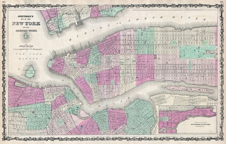 New-York old map