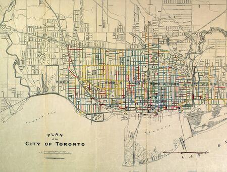 Toronto vintage map Editorial