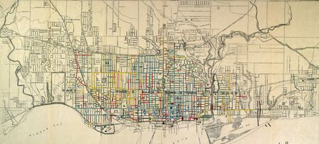 canadian pacific: Toronto vintage map Editorial