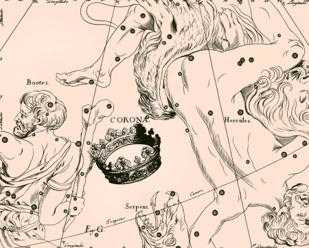 Constellation vintage map