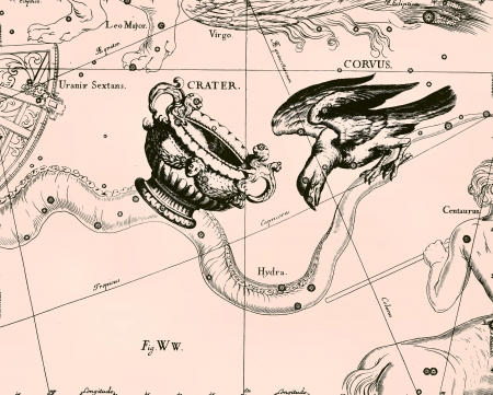 Constellation vintage map Stock Photo - 18560096