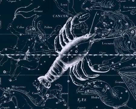 escorpio: Constellation vendimia mapa