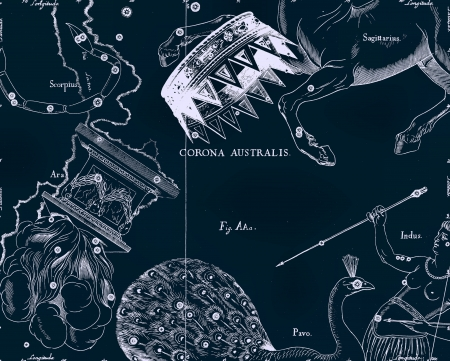 capricornus: Constellation vintage map