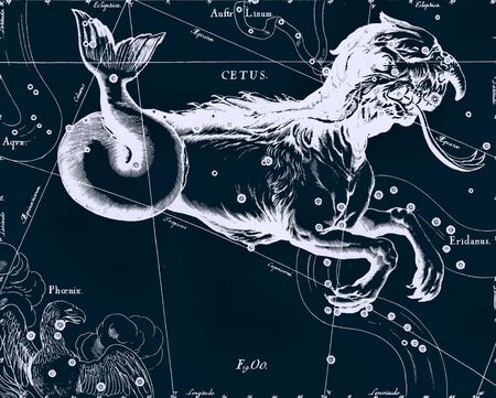 ursa minor: Constellation vintage map