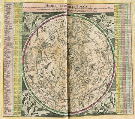 Astronomical chart vintage  Stock Photo - 18604998