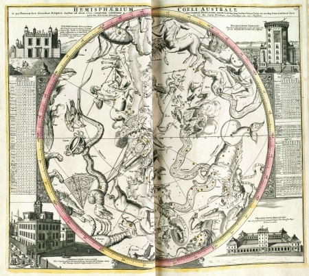 capricornus: Astronomical chart vintage  Editorial