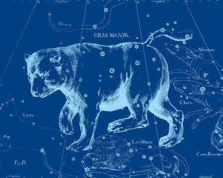 Constellation vintage map photo
