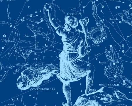 pegasus: Constellation vintage map