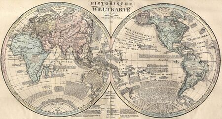World map 1828