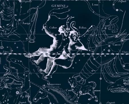 天文図ヴィンテージ 写真素材 - 18938320