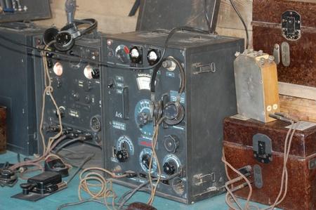 KIEV, UKRAINE - MAY 11 : German communication equipment  during historical reenactment of WWII, Red Star military history club, on May 11, 2013 in Kiev, Ukraine