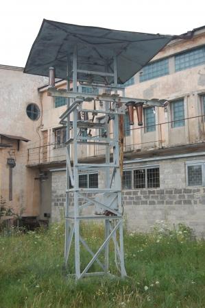 Abandoned military base  near Chernobyl alienation area Ukraine,Radio communication centre photo