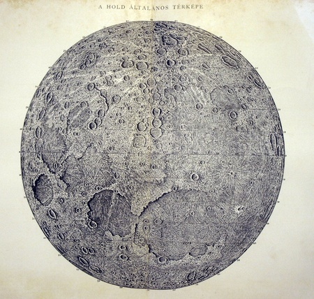 Vintage map of the Moon