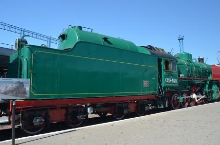 KIEV, UKRAINE - SEP 9 - The Museum of Railway exhibit at the Kiev railway terminal is shown on September 9, 2013 in Kiev,Ukraine  Stock Photo - 22053796