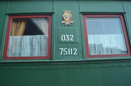 KIEV, UKRAINE - SEP 9 - The Museum of Railway exhibit at the Kiev railway terminal is shown on September 9, 2013 in Kiev,Ukraine  Stock Photo - 22053800