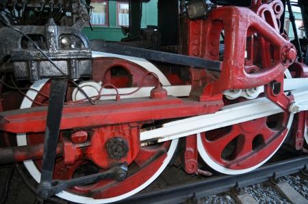 preassure: KIEV, UKRAINE - SEP 9 - The Museum of Railway exhibit at the Kiev railway terminal is shown on September 9, 2013 in Kiev,Ukraine  Editorial