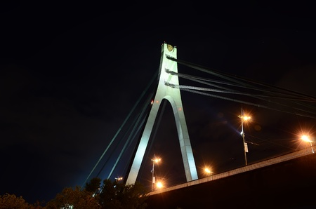 Night Bridge Kiev,Ukraine photo