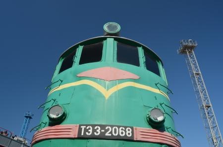 KIEV, UKRAINE - SEP 9 - The Museum of Railway exhibit at the Kiev railway terminal is shown on September 9, 2013 in Kiev,Ukraine  Stock Photo - 22190475