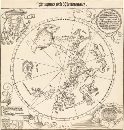 capricornus: Astronomical chart,vintage Editorial