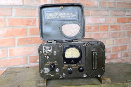 KIEV, UKRAINE -NOV 3  Vintage Soviet Geiger counter during historical military reenactment, festival  and exhibition, November 3, 2013 Kiev, Ukraine  Stock Photo - 25055725
