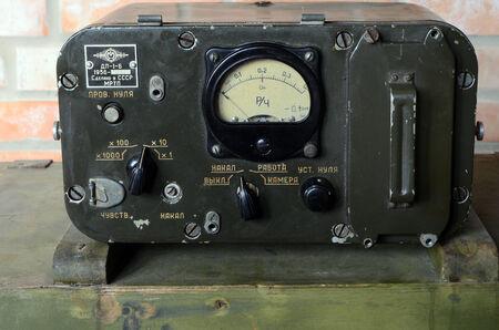 KIEV, UKRAINE -NOV 3  Vintage Soviet Geiger counter during historical military reenactment, festival  and exhibition, November 3, 2013 Kiev, Ukraine  Stock Photo - 25055726